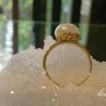 バロック真珠の指輪 トップ